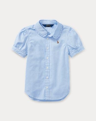 폴로 랄프로렌 여아용 옥스포드 셔츠 블루 Polo Ralph Lauren Oxford Shirt