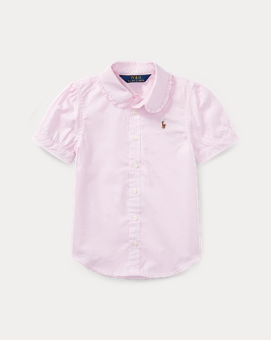 폴로 랄프로렌 여아용 옥스포드 셔츠 핑크 Polo Ralph Lauren Oxford Shirt