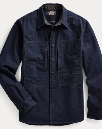 폴로 랄프로렌 Polo Ralph Lauren Indigo Chambray Shirt,Rl 957 Dark Indigo