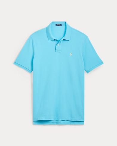 폴로 랄프로렌 Polo Ralph Lauren Custom Slim Fit Mesh Polo,Margie Blue