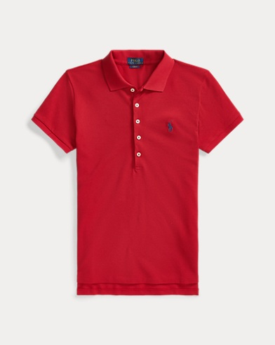 폴로 랄프로렌 Polo Ralph Lauren Slim Fit Stretch Polo Shirt,Rl2000 Red/Navy Pp