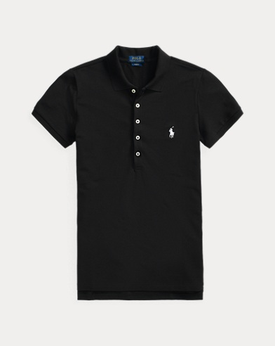 폴로 랄프로렌 Polo Ralph Lauren Slim Fit Stretch Polo Shirt,Polo Black/White Pp