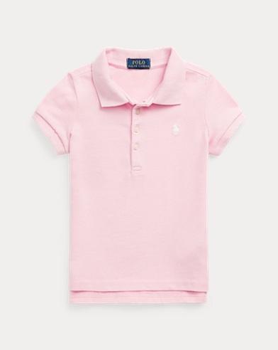 폴로 랄프로렌 여아용 반팔 카라티 핑크 Polo Ralph Lauren Short-Sleeved Polo,Bristol Pink