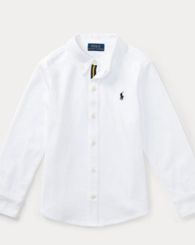 폴로 랄프로렌 남아용 셔츠 화이트 Polo Ralph Lauren Cotton Interlock Shirt,White