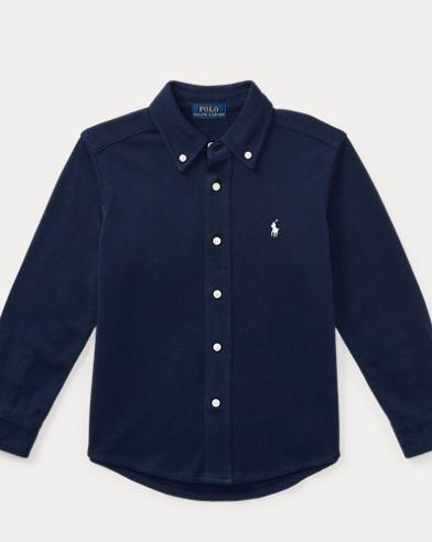 폴로 랄프로렌 남아용 셔츠 네이비 Polo Ralph Lauren Cotton Interlock Shirt,Newport Navy