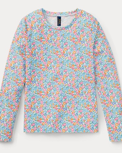 폴로 랄프로렌 Polo Ralph Lauren Floral 래쉬가드 Rash Guard,White/Blue/Multi