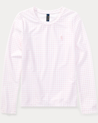 폴로 랄프로렌 Polo Ralph Lauren Gingham 래쉬가드 Rash Guard,Pink Multi