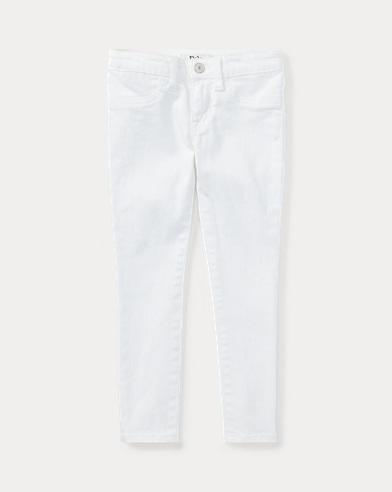 폴로 랄프로렌 Polo Ralph Lauren Aubrie Denim Legging,White