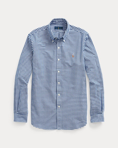 폴로 랄프로렌 Polo Ralph Lauren Classic Fit Gingham Shirt,Blue/White Gingham