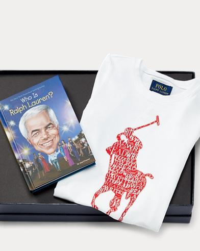 폴로 랄프로렌 여아용 반팔 티셔츠 세트 Polo Ralph Lauren T-Shirt & Who Is RL Book Set,Multi