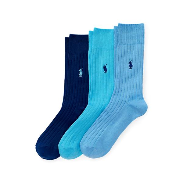Ralph Lauren - 3er-Pack gerippte Crew-Socken - 1