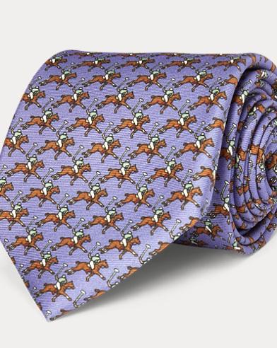 폴로 랄프로렌 Polo Ralph Lauren Polo Player Silk Narrow Tie,Lavender