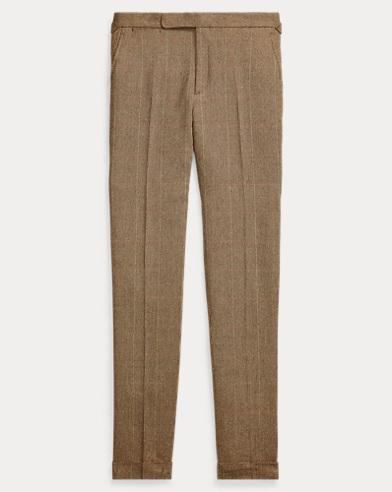폴로 랄프로렌 Polo Ralph Lauren Polo Tick-Weave Suit Trouser,Bro/Tan W/Green And Oran