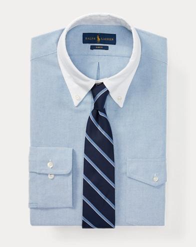 폴로 랄프로렌 Polo Ralph Lauren Slim Fit Cotton Oxford Shirt,Bsr Blue