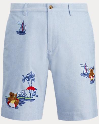 폴로 랄프로렌 클래식핏 코튼 반바지 폴로베어 자수 Polo Ralph Lauren Classic Fit Cotton Short,Bsr Blue W/ Ao Emb