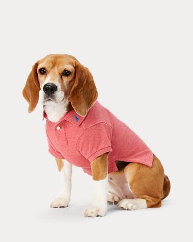 폴로 랄프로렌 강아지 코튼 매시 폴로셔츠 - 살먼헤더  Polo Ralph Lauren Cotton Mesh Dog Polo Shirt,Salmon Heather
