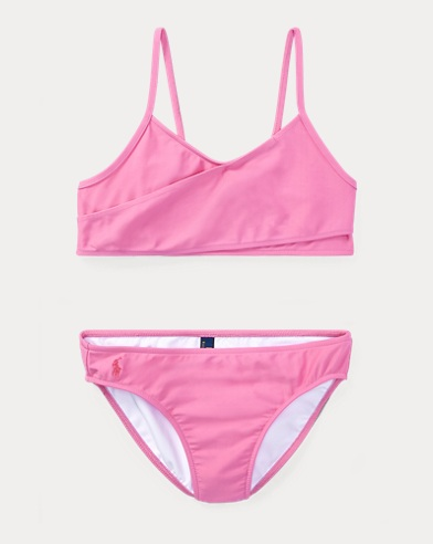 폴로 랄프로렌 Polo Ralph Lauren Two-Piece Swimsuit,Hammond Pink
