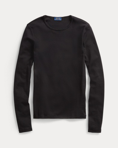 폴로 랄프로렌 티셔츠 Polo Ralph Lauren Cotton Long-Sleeve T-Shirt,Polo Black