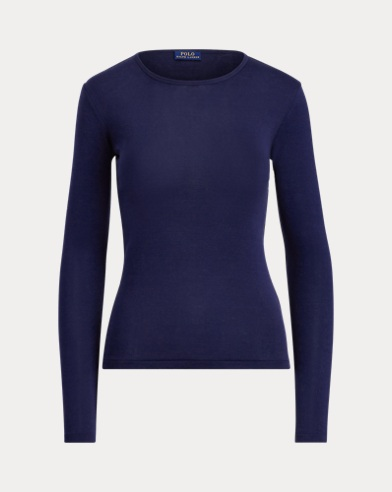 폴로 랄프로렌 Polo Ralph Lauren Cotton Long-Sleeve T-Shirt,Cruise Navy
