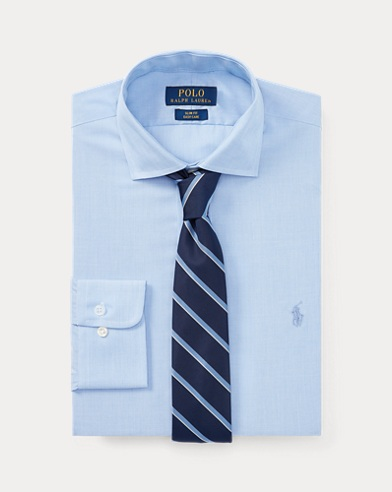 폴로 랄프로렌 클래식핏 포플린 셔츠 Polo Ralph Lauren Classic Fit Poplin Shirt,Blue/White