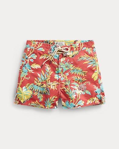 폴로 랄프로렌 반바지 레드 Polo Ralph Lauren Hawaiian Cotton-Blend Short,Red