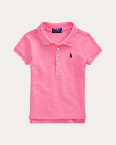 폴로 랄프로렌 여아용 반팔 카라티 핑크 Polo Ralph Lauren Short-Sleeved Polo,Baja Pink