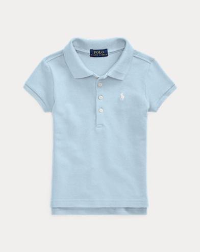 폴로 랄프로렌 여아용 반팔 카라티 엘리트 블루 Polo Ralph Lauren Short-Sleeved Polo,Elite Blue