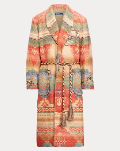 폴로 랄프로렌 사우스웨스턴 랩 코트 Polo Ralph Lauren Southwestern Wrap Coat,Tan Multi