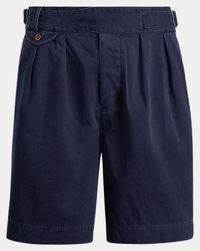 폴로 랄프로렌 클래식핏 구르카 팬츠 네이비 Polo Ralph Lauren Classic Fit Pleated Short,Aviator Navy