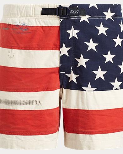 폴로 랄프로렌 클래식핏 코튼 반바지 성조기 프린트 Polo Ralph Lauren Classic Fit Flag Cotton Short,American Flag