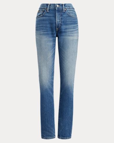 폴로 랄프로렌 Polo Ralph Lauren Callen High-Rise Slim Jean,Medium Indigo