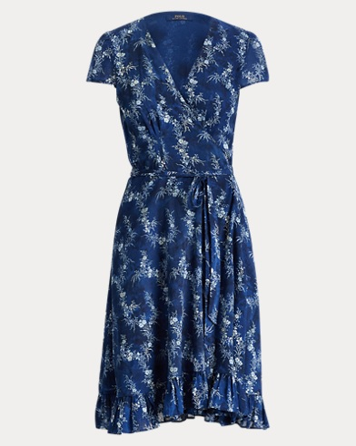 폴로 랄프로렌 플로럴 랩 원피스 Polo Ralph Lauren Floral Gauze Wrap Dress,Floral