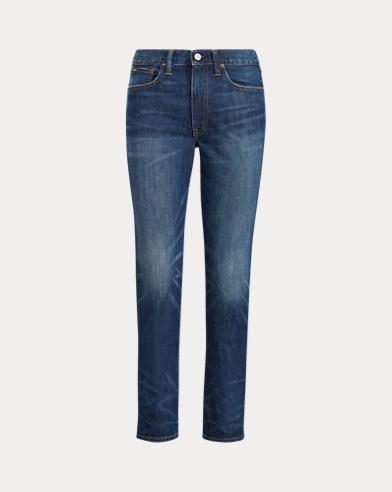 폴로 랄프로렌 Polo Ralph Lauren Waverly High-Rise Crop Jean,Dark Indigo