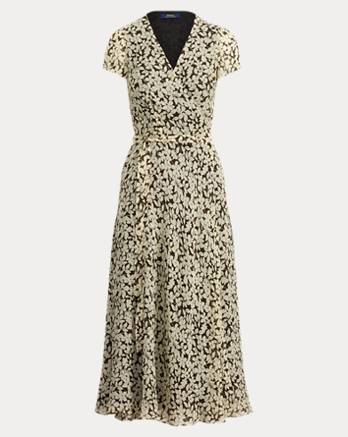 폴로 랄프로렌 플로럴 랩 원피스 Polo Ralph Lauren Floral Crepe Wrap Dress,Magnolia Floral