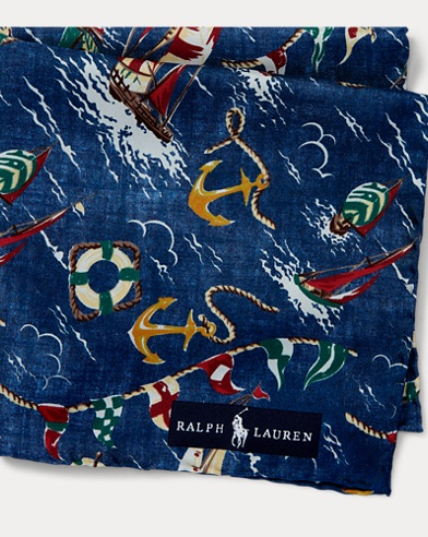 폴로 랄프로렌 Polo Ralph Lauren Nautical Pocket Square,Navy