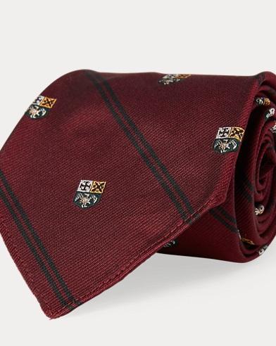 폴로 랄프로렌 Polo Ralph Lauren Vintage-Inspired Silk Tie,Wine