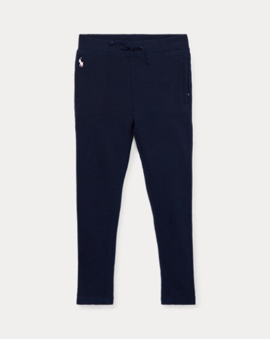 폴로 랄프로렌 여아용 레깅스 Polo Ralph Lauren French Terry Legging,French Navy
