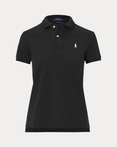 폴로 랄프로렌 Polo Ralph Lauren Classic Fit Mesh Polo Shirt,Polo Black/White Pp