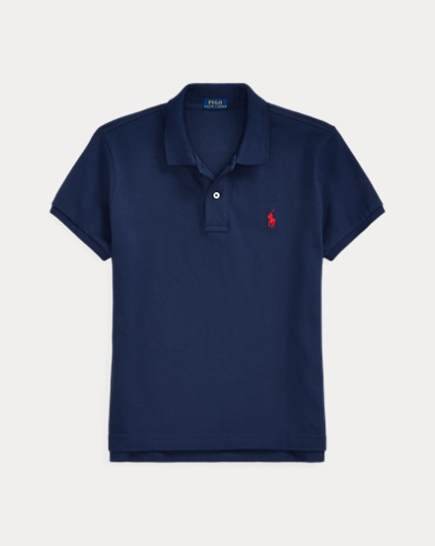 폴로 랄프로렌 Polo Ralph Lauren Classic Fit Mesh Polo Shirt,Newport Navy/Red Pp