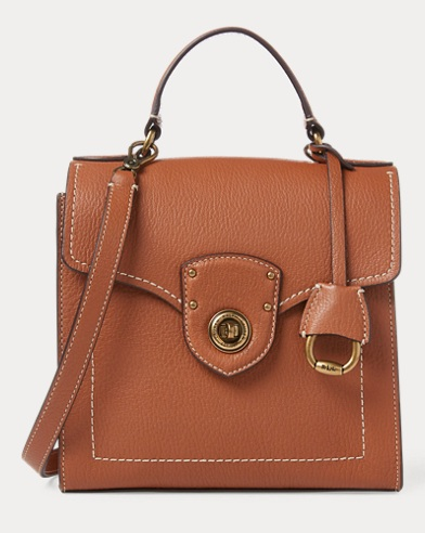 폴로 랄프로렌 사첼백 탄 Polo Ralph Lauren Leather Crossbody Satchel Bag,Lauren Tan
