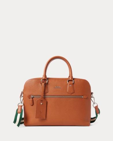 폴로 랄프로렌 노트북 가방 탄 Polo Ralph Lauren Pebbled Leather Briefcase,Polo Tan