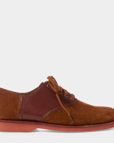 폴로 랄프로렌 스웨이드 구두 브라운 Polo Ralph Lauren Orval Suede Saddle Shoe,New Snuff/Brown