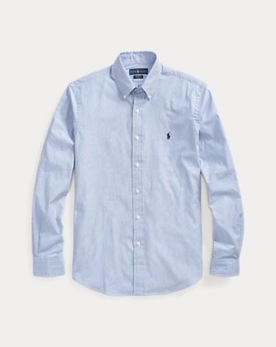 폴로 랄프로렌 Polo Ralph Lauren Striped Poplin Shirt - All Fits,Blue/White Stripe