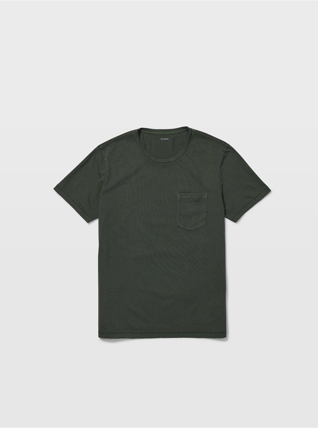 클럽 모나코 맨 Williams 반팔 티셔츠 Club Monaco Williams Garment-Dyed Crew,Olive