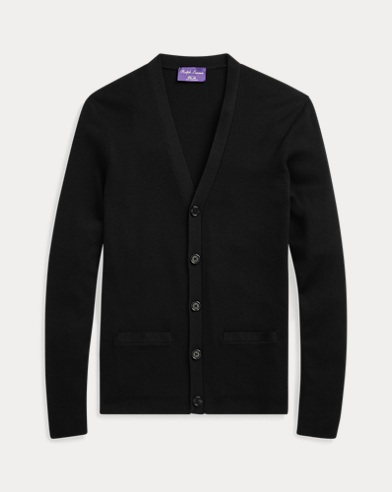 폴로 랄프로렌 Polo Ralph Lauren RLX Slim Fit Merino Cardigan,Polo Black