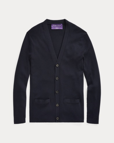 폴로 랄프로렌 Polo Ralph Lauren RLX Slim Fit Merino Cardigan,Classic Chairman Navy