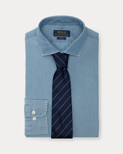 폴로 랄프로렌 슬림핏 셔츠 Polo Ralph Lauren Slim Fit Chambray Shirt,French Blue/White