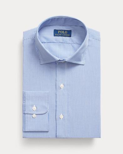 폴로 랄프로렌 포플린 셔츠 Polo Ralph Lauren Striped Easy Care Stretch Poplin Shirt - All Fits,Crystal Blue/White