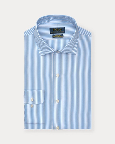 폴로 랄프로렌 Polo Ralph Lauren Striped Easy Care Stretch Poplin Shirt - All Fits,Azure/White
