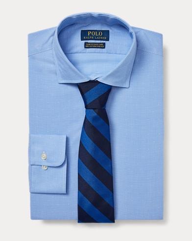 폴로 랄프로렌 Polo Ralph Lauren Slim Fit Micro-Check Shirt,Azure/White